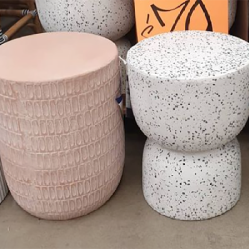 You Can Now Snap Up Marble-Style Terazzo Ceramic Stools At Bunnings For $79