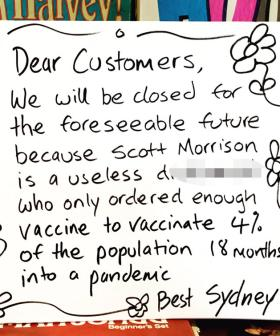 Sydney Shop Owner's Brutal Message To Scott Morrison After Being Forced To Close During Lockdown