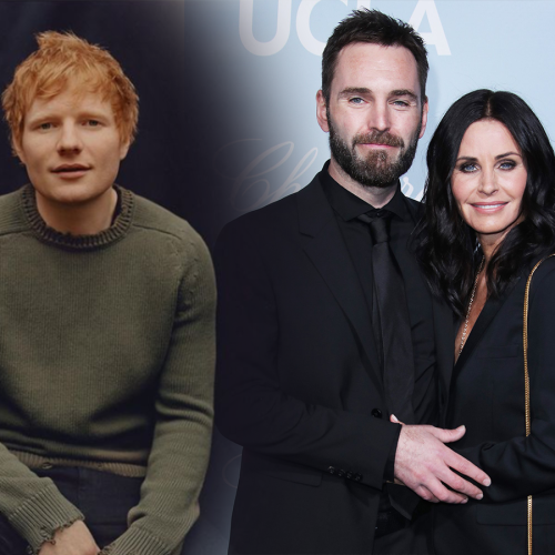Ed Sheeran Spills That He Had A Hand In Courteney Cox's LOVE LIFE