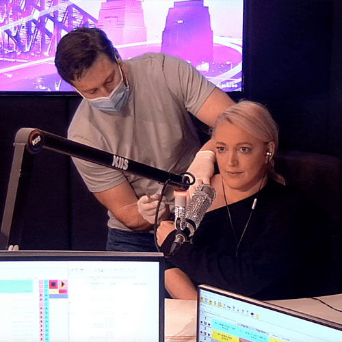 Jackie O Overcomes Her Hesitations & Gets The Jab Live On-air